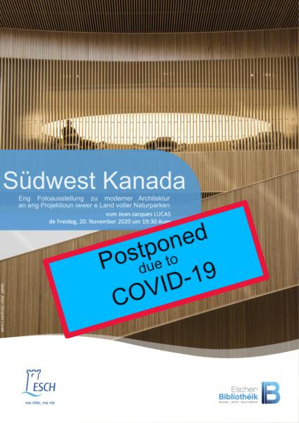 20201120 PCE Exploration du Monde Kanada Postponed