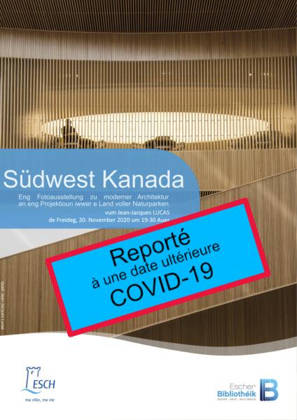 20201120 PCE Exploration du Monde Kanada REPORTE