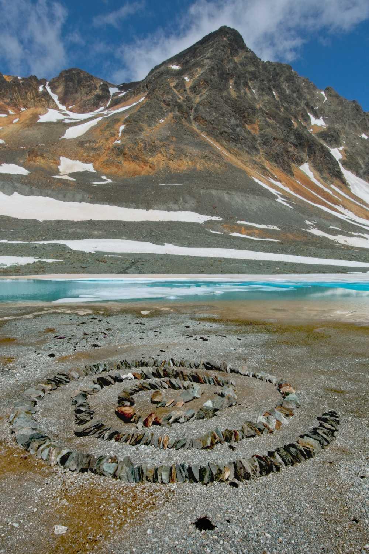 Cooler Gletschersee des Vadret d'Agnel
